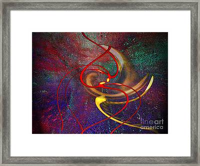 Cosmic Kiss Framed Print