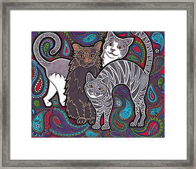 Cosmic Kittehs Framed Print