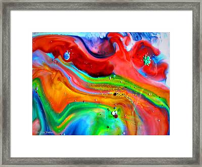 Framed Print featuring the painting Cosmic Lights by Joyce Dickens