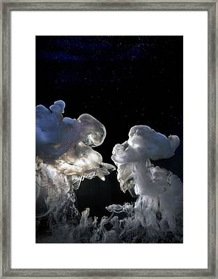 Cosmic Love Framed Print by Petros Yiannakas