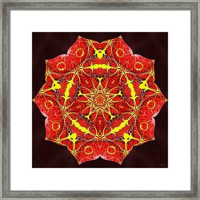 Cosmic Masculine Firestar Framed Print