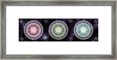 Cosmic Medallians Rgb 2 Framed Print