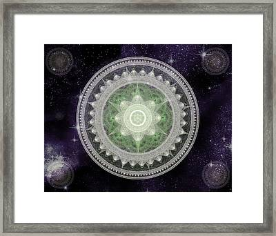 Cosmic Medallions Earth Framed Print
