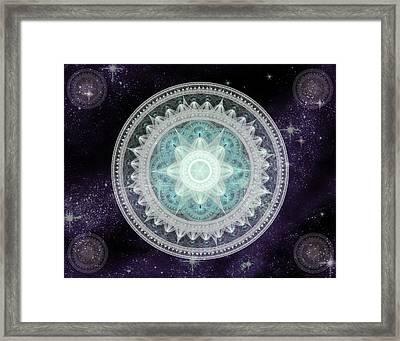 Cosmic Medallions Water Framed Print