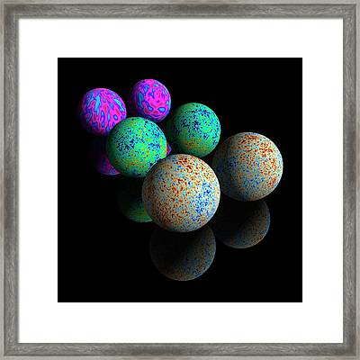 Cosmic Microwave Background Radiation Framed Print by Carlos Clarivan