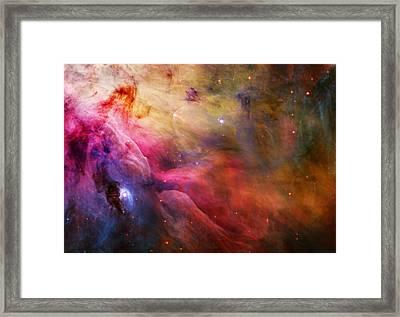 Cosmic Orion Nebula Framed Print by Celestial Images