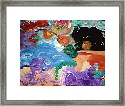 Cosmic Party People Framed Print