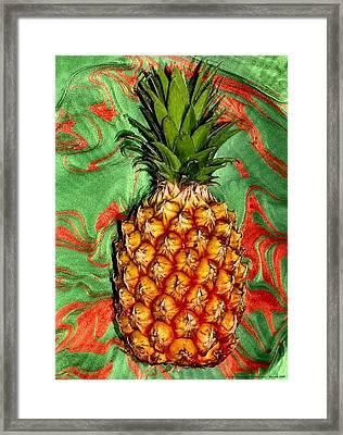 Cosmic Pineapple Framed Print by Chrystyne Novack