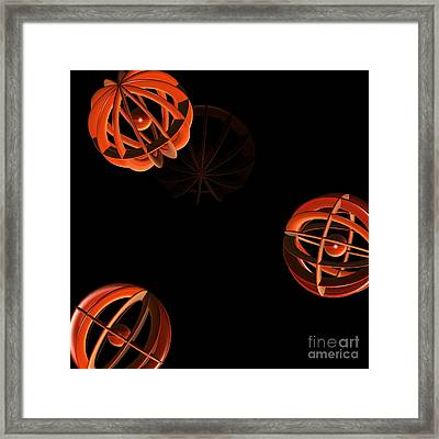 Cosmic Pumpkins By Jammer Framed Print by First Star Art