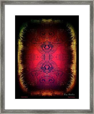 Cosmic Radius Framed Print by Roxy Hurtubise