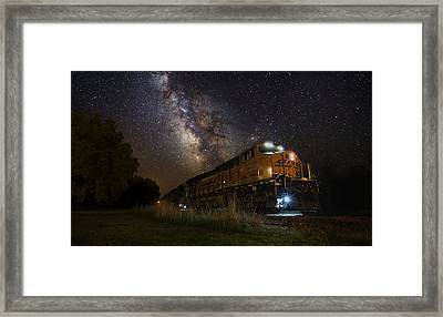 Cosmic Railroad Framed Print by Aaron J Groen