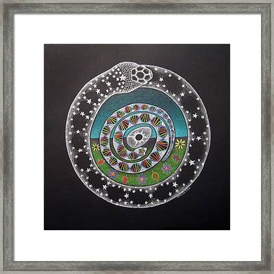 Cosmic Serpent Color Framed Print