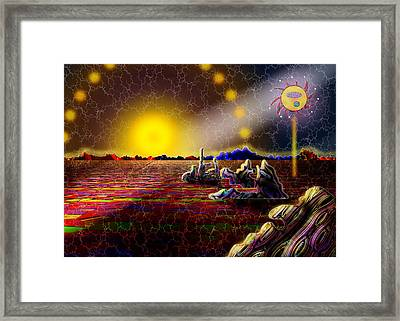 Cosmic Signpost Framed Print by Melinda Fawver