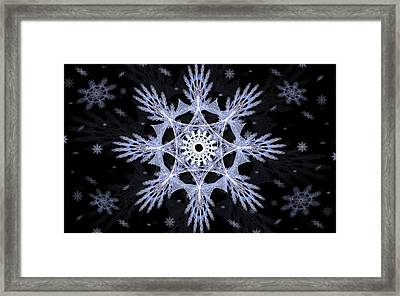 Cosmic Snowflakes Framed Print by Shawn Dall