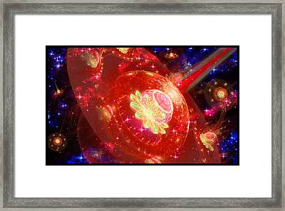 Cosmic Space Station 2 Framed Print