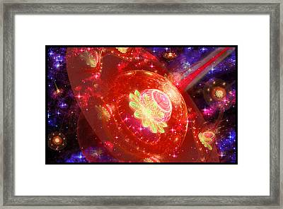 Cosmic Space Station Framed Print by Shawn Dall
