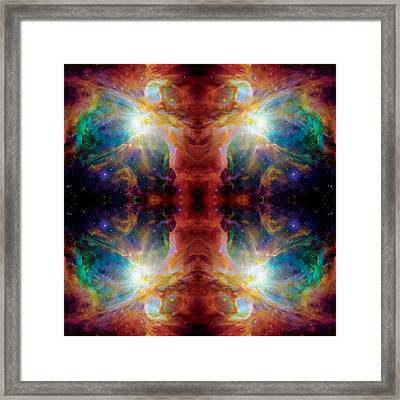 Cosmic Spine Deep Space Reflection Framed Print by Jennifer Rondinelli Reilly - Fine Art Photography