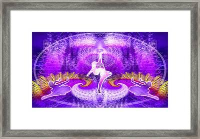 Cosmic Spiral Ascension 27 Framed Print by Derek Gedney