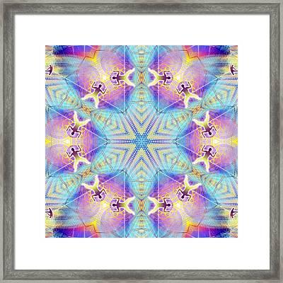 Cosmic Spiral Kaleidoscope 17 Framed Print