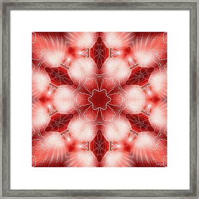 Cosmic Spiral Kaleidoscope 22 Framed Print