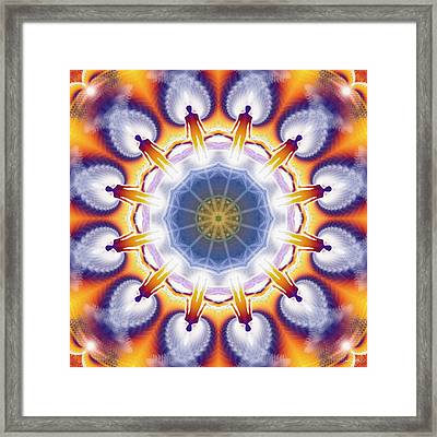 Cosmic Spiral Kaleidoscope 34 Framed Print