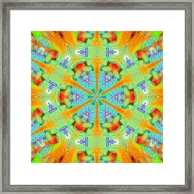 Cosmic Spiral Kaleidoscope 41 Framed Print