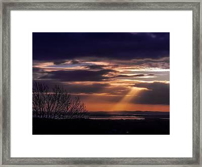 Cosmic Spotlight On Shannon Airport Framed Print