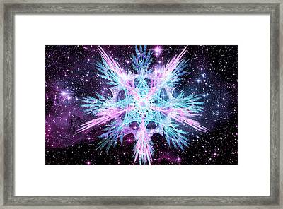 Cosmic Starflower Framed Print