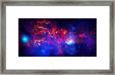 Cosmic Storm In The Milky Way Framed Print