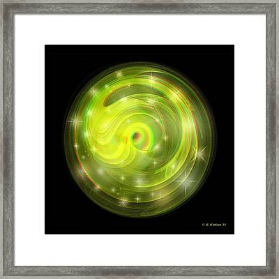 Cosmic Swirl - Use Red-cyan Filtered 3d Glasses Framed Print