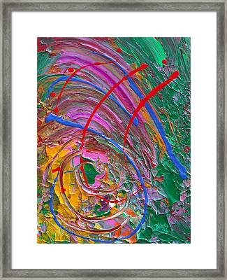 Cosmic Thoughts Framed Print by Donna Blackhall