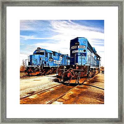 Cosmic Trains Framed Print by Frozen in Time Fine Art Photography