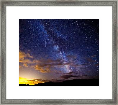 Cosmic Traveler  Framed Print by Darren  White
