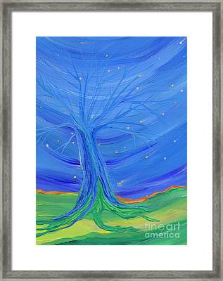 Framed Print featuring the painting Cosmic Tree by First Star Art