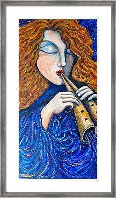 Cosmic Tune Framed Print by Rae Chichilnitsky
