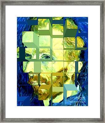 Cosmic Van Gogh Portrait Framed Print by Jerome Stumphauzer