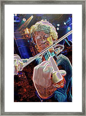 Cosmic Violin Framed Print by Don Olea