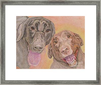 Cosmo And Lucy Framed Print