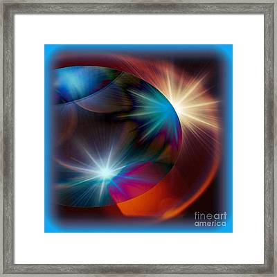 Cosmo Blue Framed Print by Gayle Price Thomas