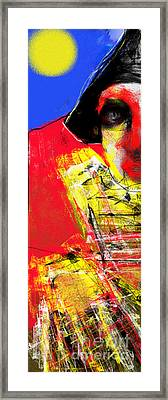 Cosmo Clown Framed Print
