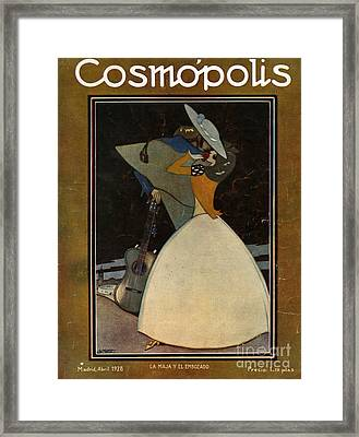 Cosmopolis  1928  1920s Spain Hugging Framed Print by The Advertising Archives