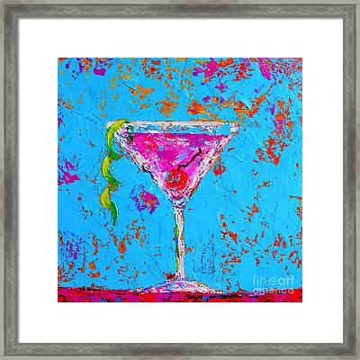 Cosmopolitan Martini Cherry Flavored - Modern Art Framed Print