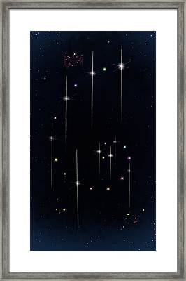 Cosmos - Art Of The Science Tarot Framed Print
