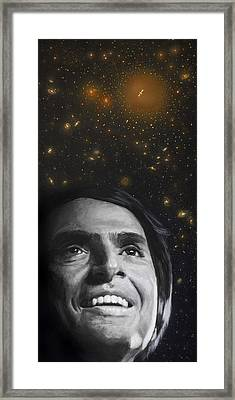 Cosmos- Carl Sagan Framed Print by Simon Kregar