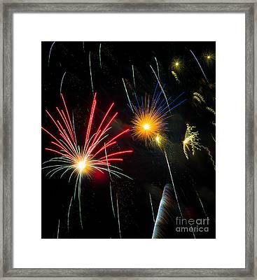 Cosmos Fireworks Framed Print