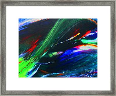 Framed Print featuring the painting Cosmos by Jeanette French