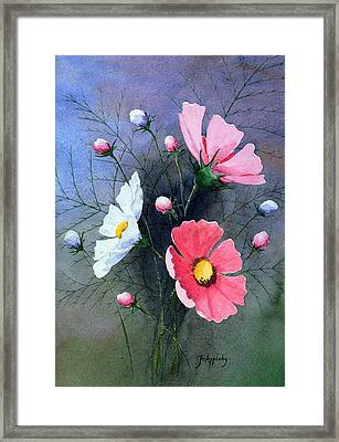 Framed Print featuring the painting Cosmos  by Jo Appleby