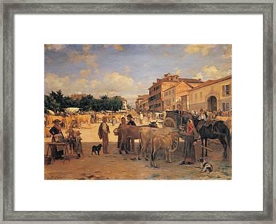 Cosola Demetrio, Chivasso Market, 1880 Framed Print