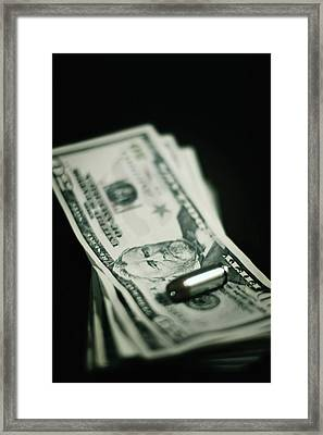 Cost Of One Bullet Framed Print