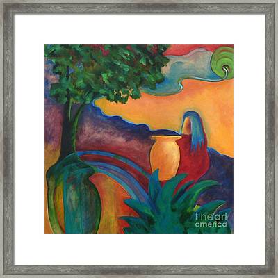 Framed Print featuring the painting Costa Mango II by Elizabeth Fontaine-Barr